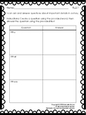 Ask and Answer Questions- Graphic Organizer