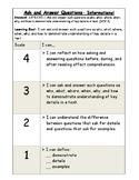 Ask and Answer Questions Informational Marzano Scale (RI.2.1 and LAFS.RI.1.1)