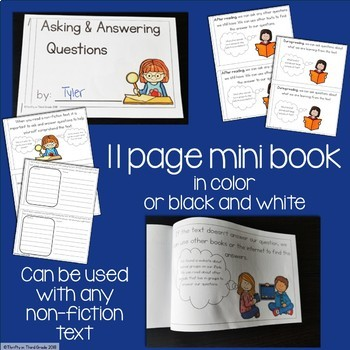 Ask and Answer Questions Interactive Mini Book {RI.2.1}