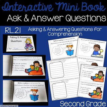 Ask and Answer Questions Interactive Mini Book {RL.2.1}