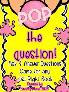 "Ask and Answer Questions: ""POP the Question!"" Game Boards"