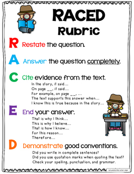 Ask and Answer Questions, RACE, Posters and Task Cards, RL 3.1