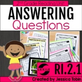 Asking and Answering Questions Second Grade Nonfiction RI.