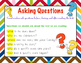 RL.1.1,  RL.2.1 Ask & Answer Questions (Worksheets, Poster