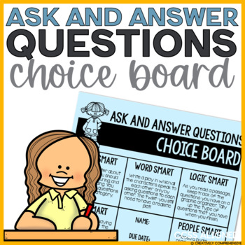 Ask & Answer Questions Choice Board- 8 Multiple Intelligen