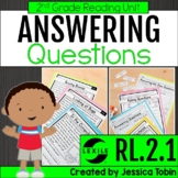 Asking and Answering Questions 2nd Grade RL.2.1 with Digit