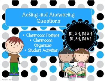 Ask and Answer Questions Classroom Posters and Graphic Org