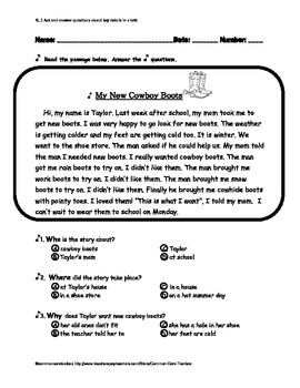 Ask and Answer Questions about Key Details