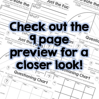 Ask Infer and Quote - Fiction Graphic Organizers - RL.3.1, RL.4.1, RL.5.1
