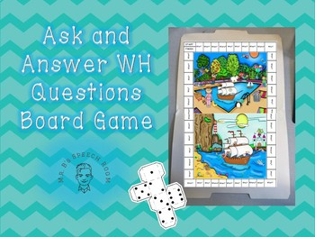Ask and Answer WH Question Board Game