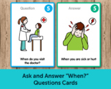 "Ask and Answer ""When?"" Questions Cards - Super Duper Educa"