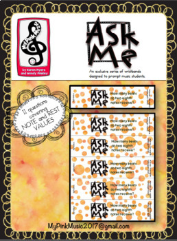 MUSIC Wristbands: Beat Values for Notes and Rests (FREEBIE