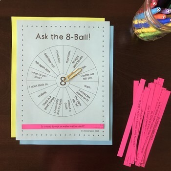 Ask the 8-Ball: An activity for consonant clusters (sentence level)