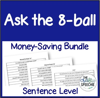 Ask the 8-Ball Bundle: A sentence-level articulation activity