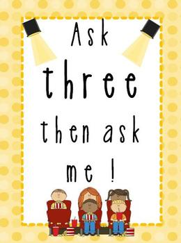 Ask three then ask me Hollywood Theme