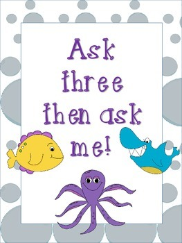 Ask three then ask me Poster Ocean Theme