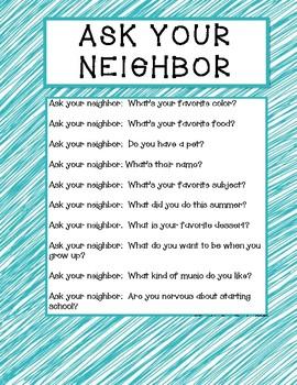 Ask you neighbor!
