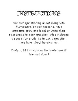 Asking & Answering Questions with Hurricanes! by Gail Gibbons