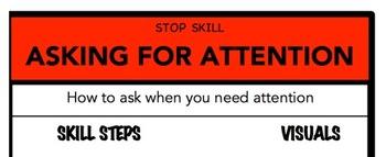 Asking For Attention Social Skill Steps Poster - The Empower Program K-2