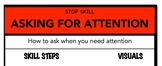 Asking For Attention Social Skill Steps Poster - The Empow