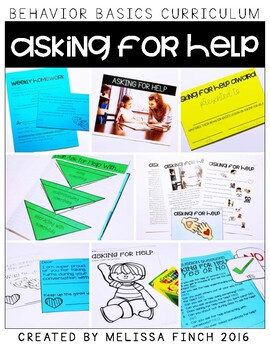 Asking For Help-  Behavior Basics Program for Special Education