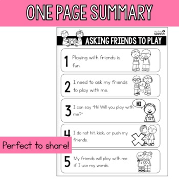 Asking Friends to Play - An Interactive Social Story