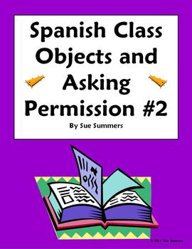 Spanish Class Objects and Asking Permission #2 - Puedo ir...