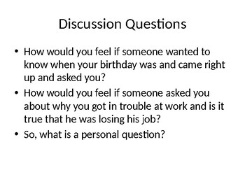 Asking Personal Questions