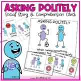 Asking Politely Social Story for Behavior (Social Skills i