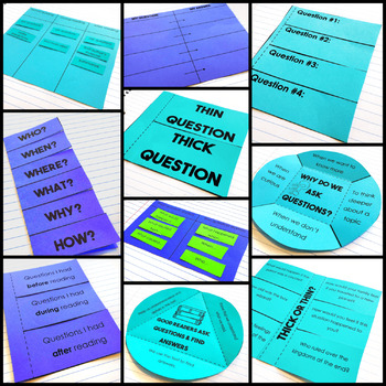 Asking Questions - Reading Interactive Notebook
