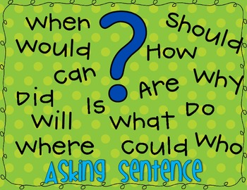 Asking Questions Anchor Chart FREEBIE!