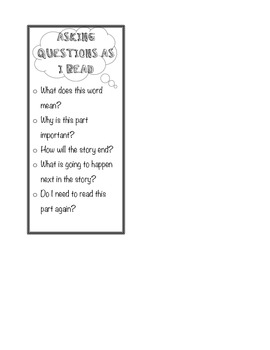 Asking Questions As I Read