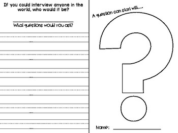 Asking Questions (Before, During, After Reading) - Freebie!