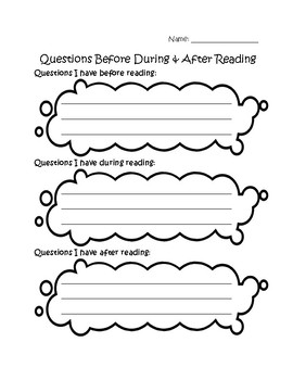 Asking Questions Before During and After Reading