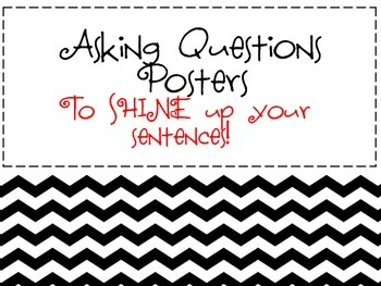 Asking Questions Chevron Posters