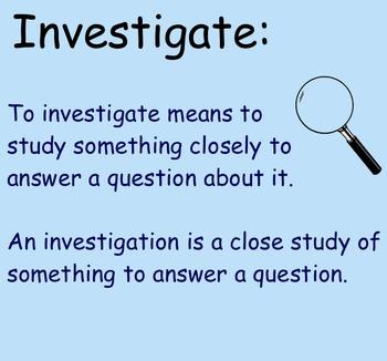 Conducting Investigations - Smartboard