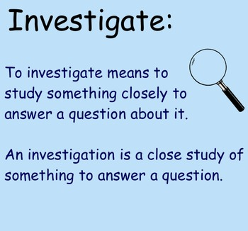 Conducting Investigations - Smartboard