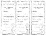 Asking Questions During Reading Bookmark
