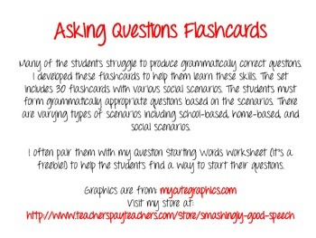 Asking Questions Flashcards