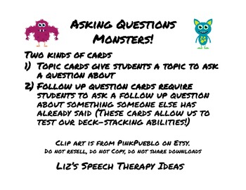 Asking Questions Monsters