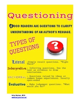 Asking Questions Packet