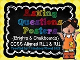 Asking Questions Posters {5W's & 1H} Chalkboard & Brights