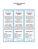 Asking Questions Comprehension Strategy Bookmark