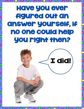 Asking Questions Strategy Posters and Printable Work Pages No Prep
