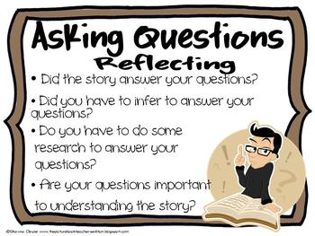 Asking Questions Reading Strategy Posters