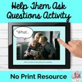 Asking Questions Real Photos Activity NO PRINT Speech | Di