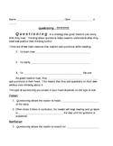 Asking Questions- Strategies #4 Worksheet