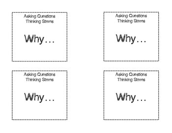 Asking Questions Thinking Stems