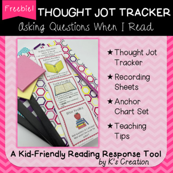Asking Questions When I Read Thought Jot Tracker Freebie!