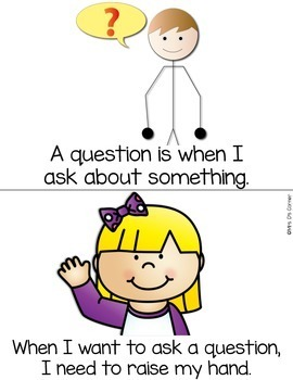Asking Questions { a Social Story } Etiquette for Asking Questions